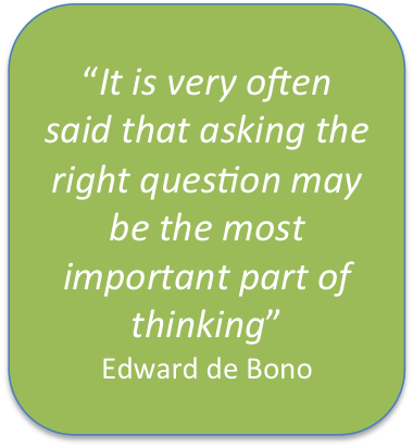 De Bono asking the right question