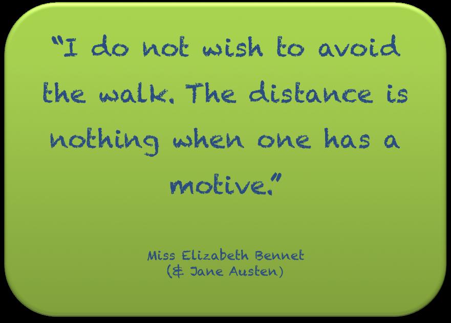 I do not wish to avoid the walk