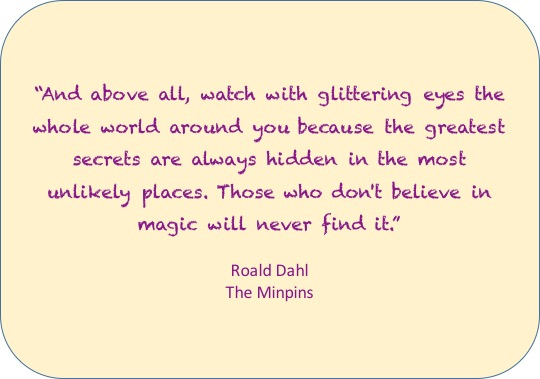 And above all, watch with glittering eyes