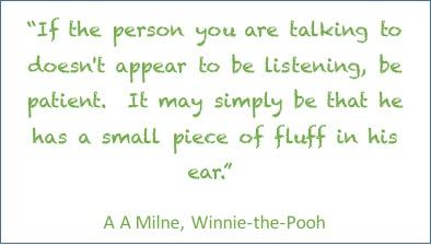 fluff in their ear