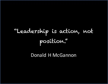 Leadership is action