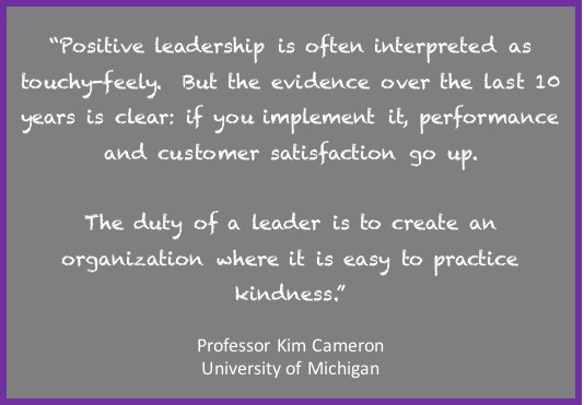 positive leadership, kindness