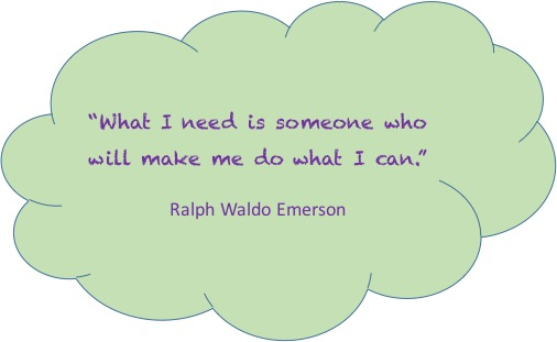 Ralph Waldo Emerson, what I need
