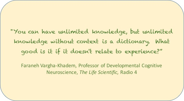 Knowledge without experience