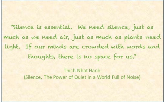 Silence is essential