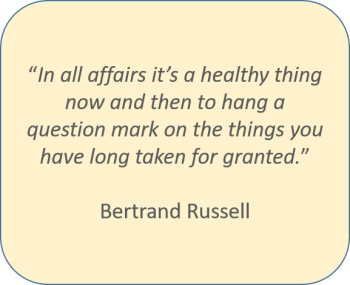 Bertrand Russell, in all affairs