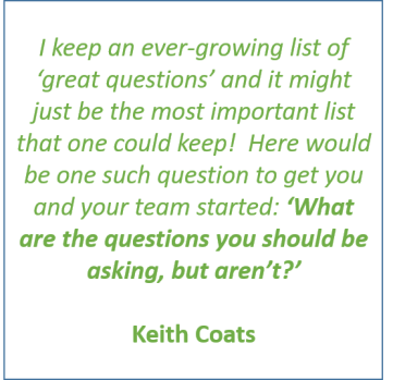 Keith Coats, great questions