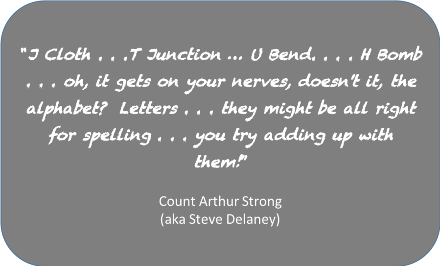 Count Arthur Strong, letters