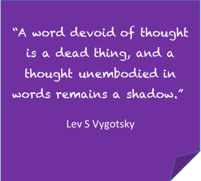 A word devoid of thought, Vygotsky